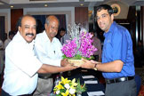 Felicitation to Anand by the Club Secretary
